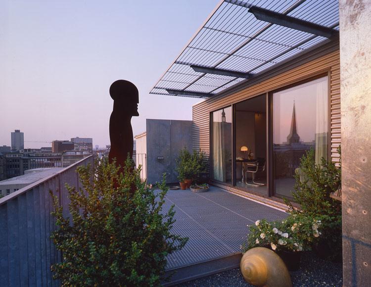 Dachterrasse Container Penthouse Planquadrat Dortmund