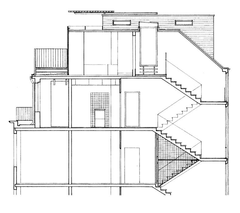 Schnittzeichnung Container Penthouse Planquadrat Dortmund