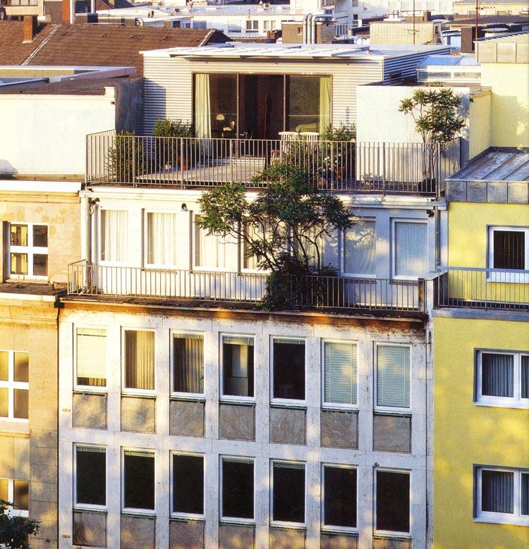 Fassadenansicht Container Penthouse Planquadrat Dortmund