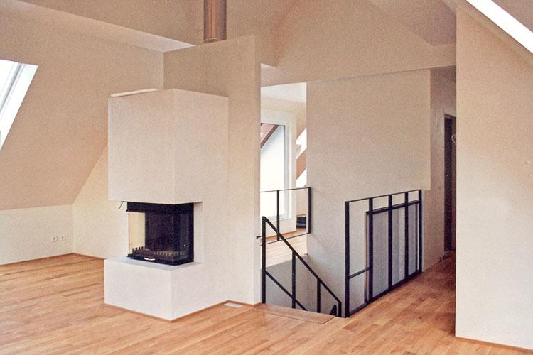 Wohnzimmer Ansicht 02 Innengestaltung einer Eigentumswohnung Bozener Stasse Planquadrat Dortmund