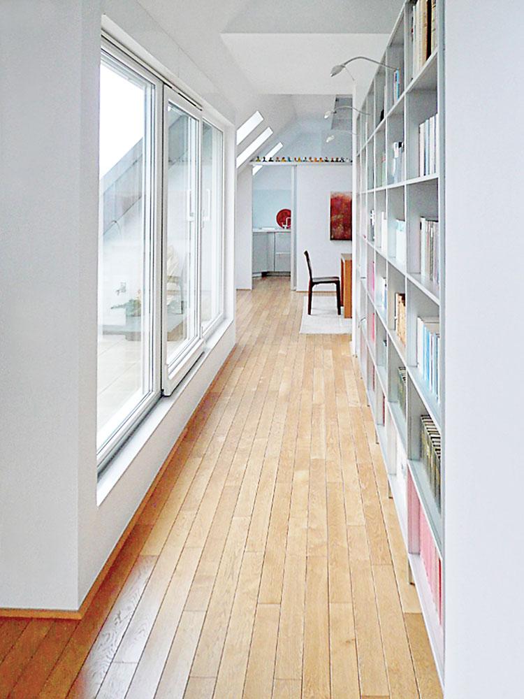 Verbindungsflur Ansicht 04 Innengestaltung einer Eigentumswohnung Bozener Stasse Planquadrat Dortmund