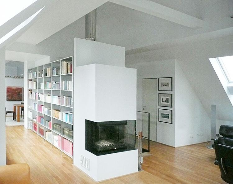 Wohnzimmer Ansicht 05 Innengestaltung einer Eigentumswohnung Bozener Stasse Planquadrat Dortmund