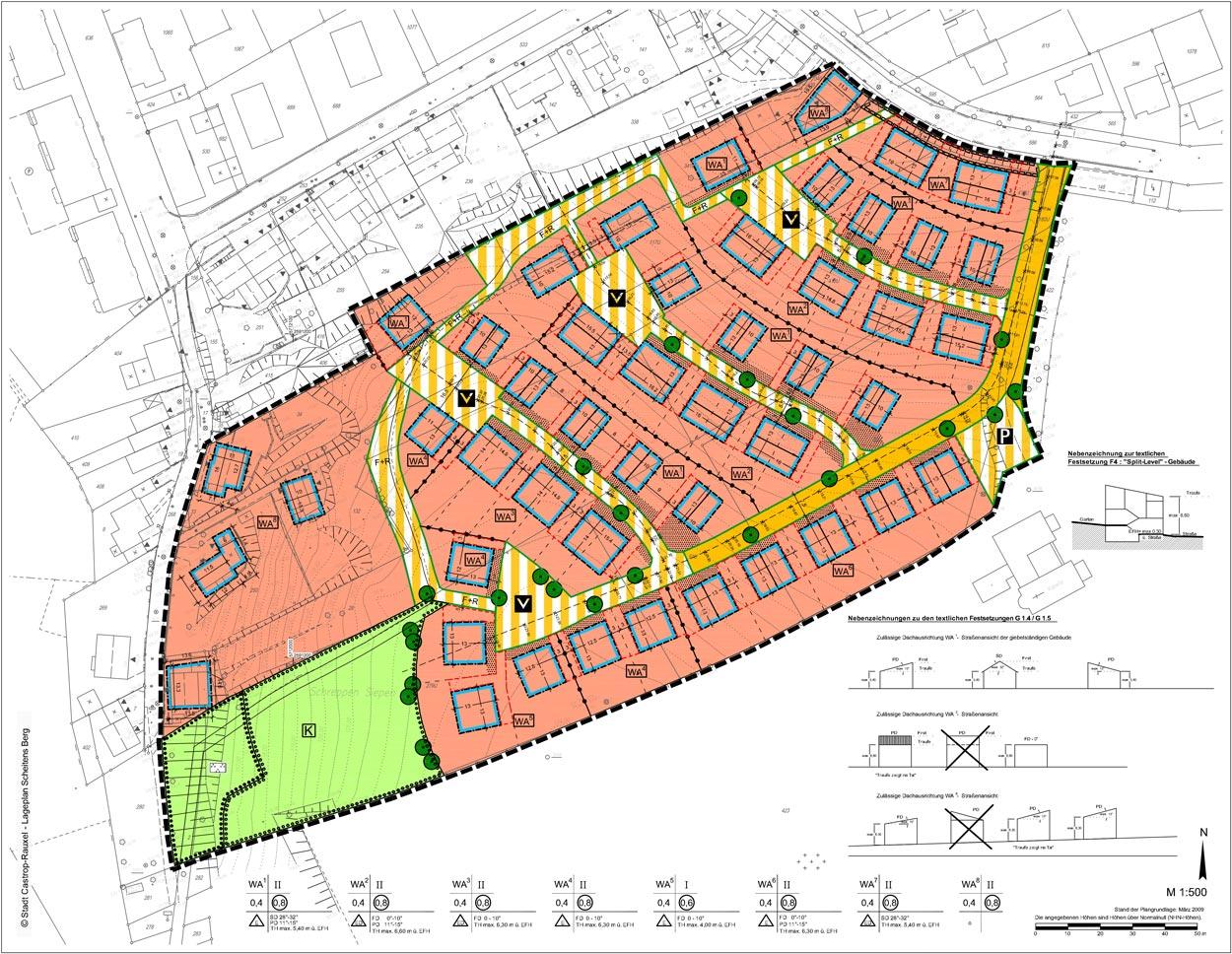 Bebauungsplan Wohnbebauung Scheitensberg Castrop-Rauxel Planquadrat Dortmund