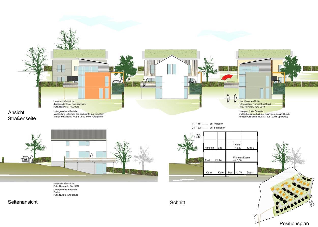 EH2 Ansichten Wohnbebauung Scheitensberg Castrop-Rauxel Planquadrat Dortmund