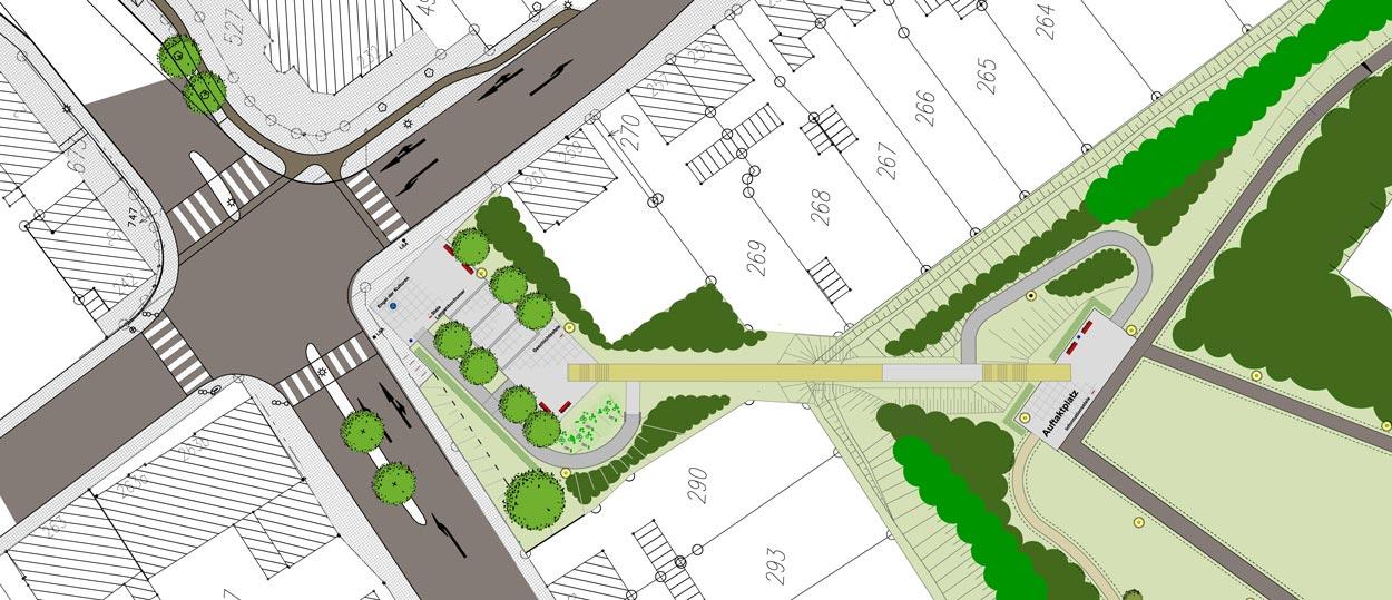 Entwurf Revitalisierung der ehemaligen Schachtanlage Schlägel & Eisen 3/4/7 Fußgängersteg Planquadrat Dortmun