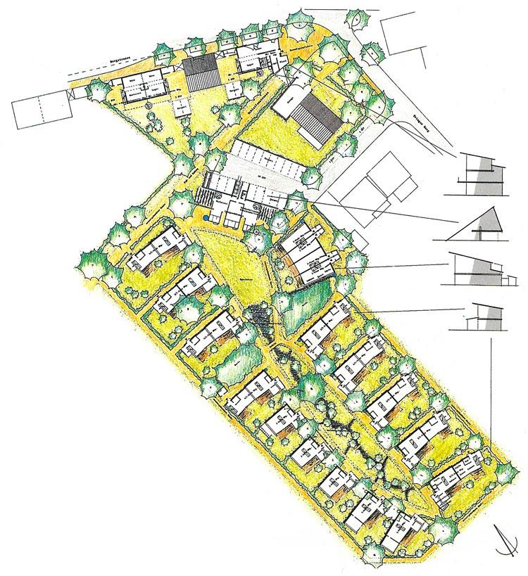 Lageplan Siedlung Fürst Hardenberg Dortmund-Lindenhorst Planquadrat Dortmund