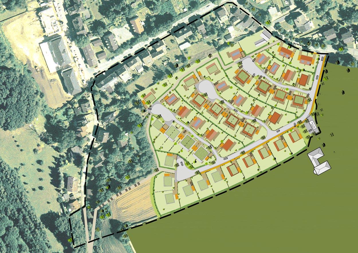 Lageplan Wohnbebauung Scheitensberg Castrop-Rauxel Planquadrat Dortmund