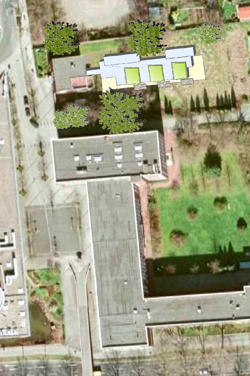 Luftbild Machbarkeitsstudie, Konzeption und Finanzierung für eine Kita der FH Dortmund Planquadrat