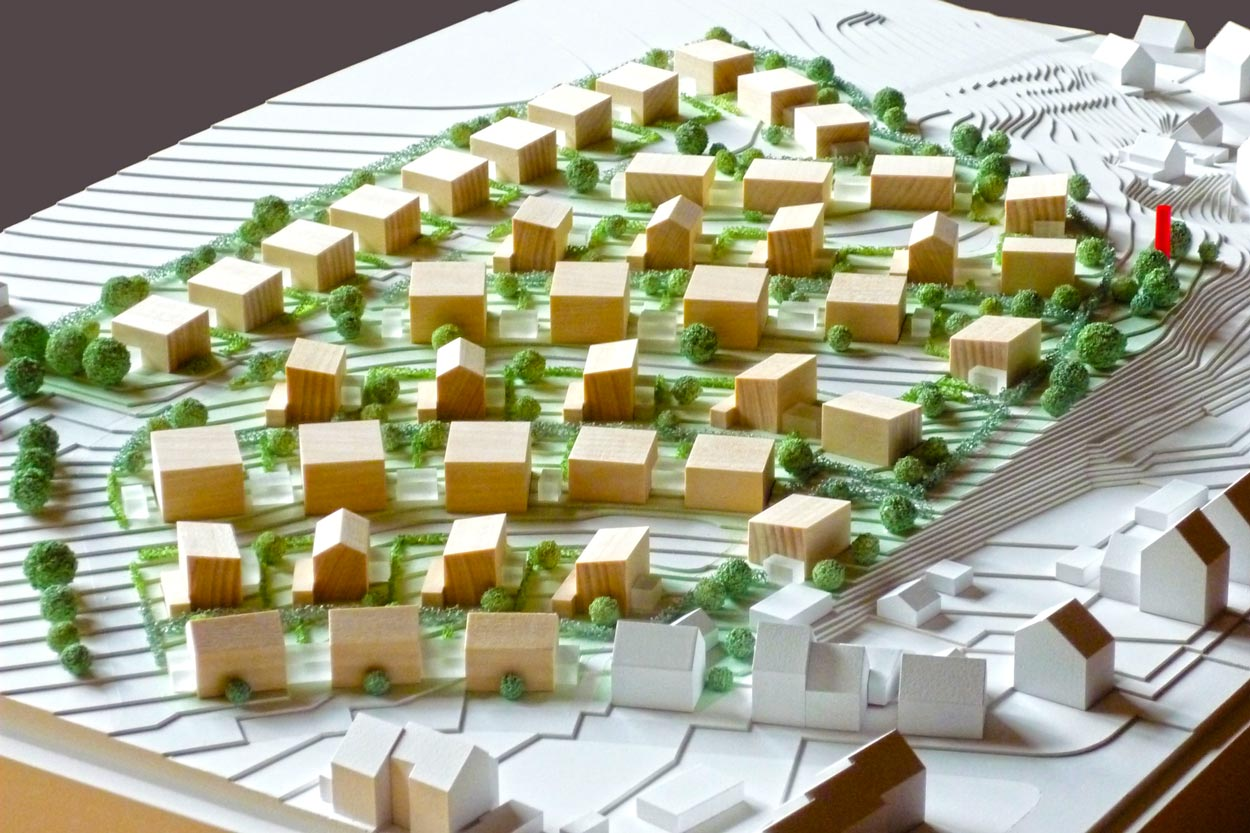 Modell Wohnbebauung Scheitensberg Castrop-Rauxel Planquadrat Dortmund