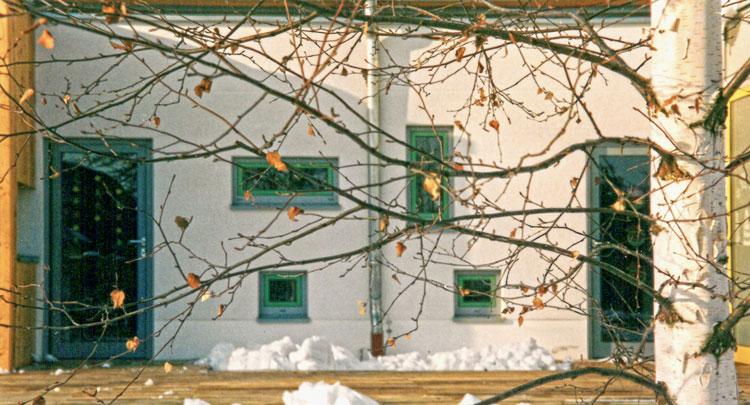 Rückseite Detail Neubau der Kindertagesstätte - Am Kurpark - Bad Lauchstädt - Planquadrat Dortmund