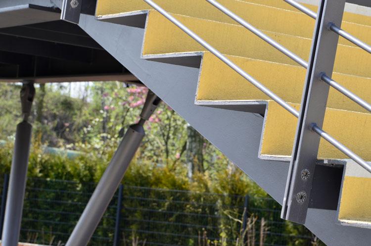 Stufen Detail Revitalisierung der ehemaligen Schachtanlage Schlägel & Eisen 3/4/7 Fußgängersteg Planquadrat Dortmun