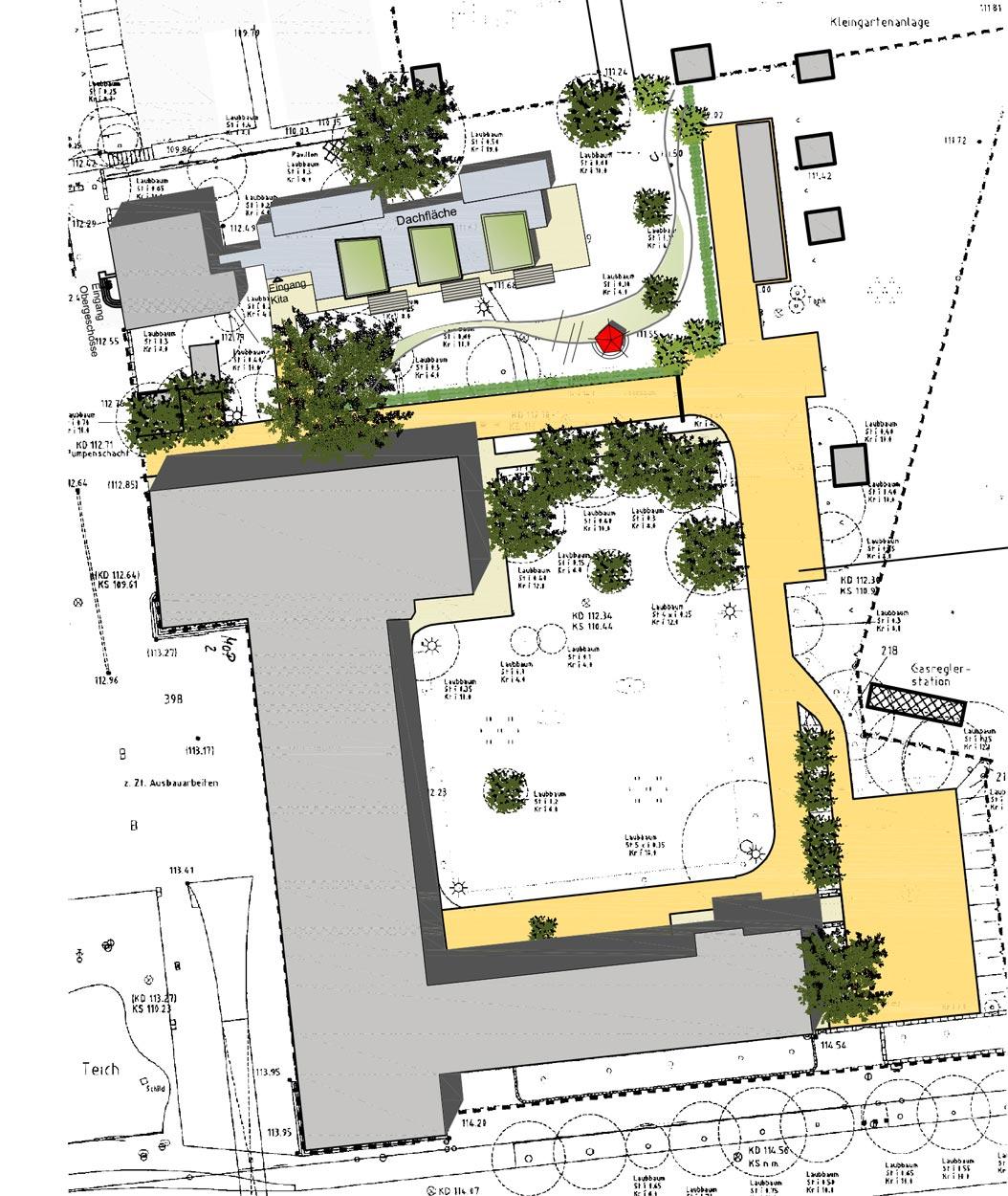 Umbau Max-Ophüls-Platz Machbarkeitsstudie, Konzeption und Finanzierung für eine Kita der FH Dortmund Planquadrat