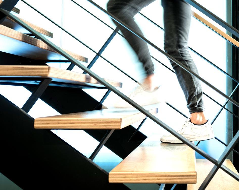 Planquadrat Treppe mit Beinen