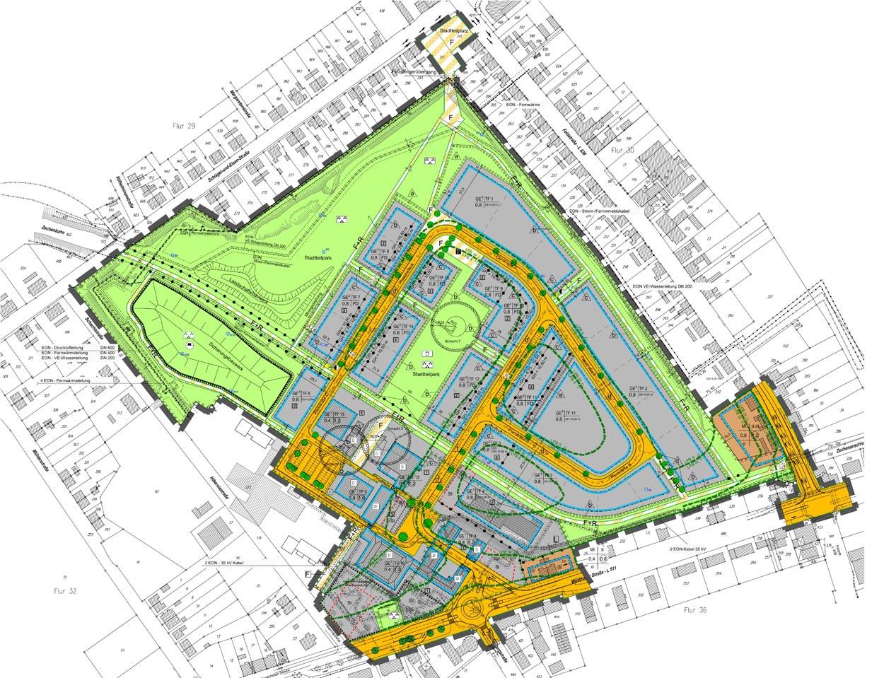 Bebauungsplan Revitalisierung der ehemaligen Schachtanlage Schlägel & Eisen 3/4/7 Herten-Langenbochum Gestaltungshandbuch Planquadrat