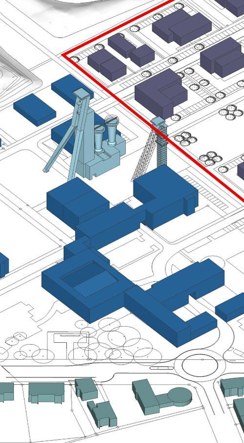 Teaserbild Revitalisierung der ehemaligen Schachtanlage Schlägel & Eisen 3/4/7 Herten-Langenbochum Gestaltungshandbuch Planquadrat