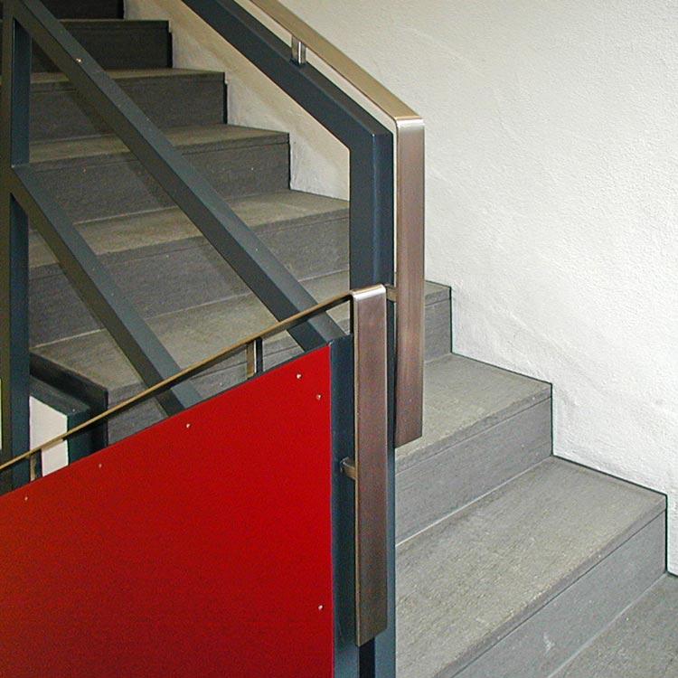 Treppe Detail 01 Umbau Gründerzeitvilla zum Kommunikationszentrum ThyssenKrupp VDM GmbH Werdohl Planquadrat