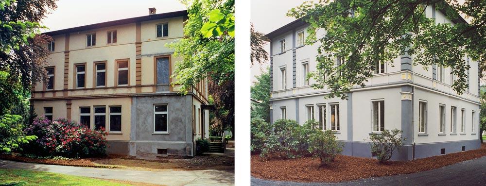 Vorher Nachher Umbau Gründerzeitvilla zum Kommunikationszentrum ThyssenKrupp VDM GmbH Werdohl Planquadrat