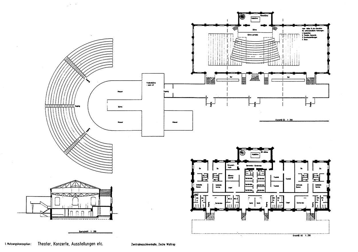 Zentralmaschinenhalle Grundriss Nutzungsneutrale Sanierung der Zentralmaschinenhalle, Fördermaschinenhalle I/II und des Transformatorengebäudes der Zeche Waltrop Planquadrat