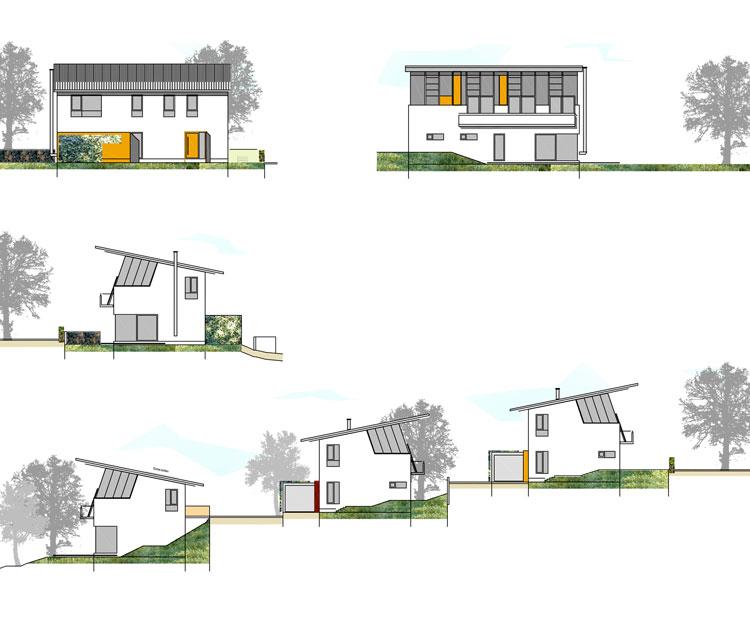 Einfamilienhaus Ansichten Wohngebiet Sunderweg Gevelsberg Qualifizierungsverfahren für Wohnbebauung Planquadrat Dortmund