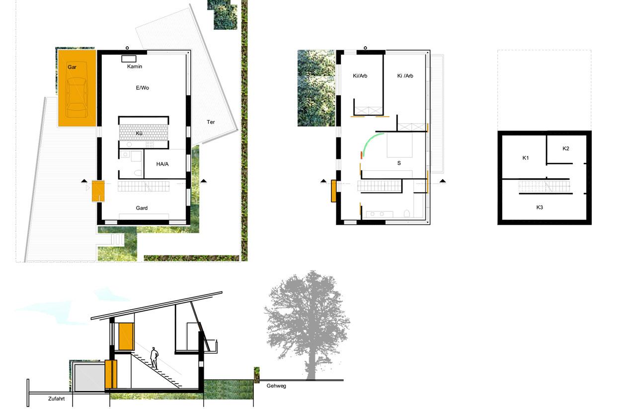 Einfamilienhaus Grundriss Wohngebiet Sunderweg Gevelsberg Qualifizierungsverfahren für Wohnbebauung Planquadrat Dortmund