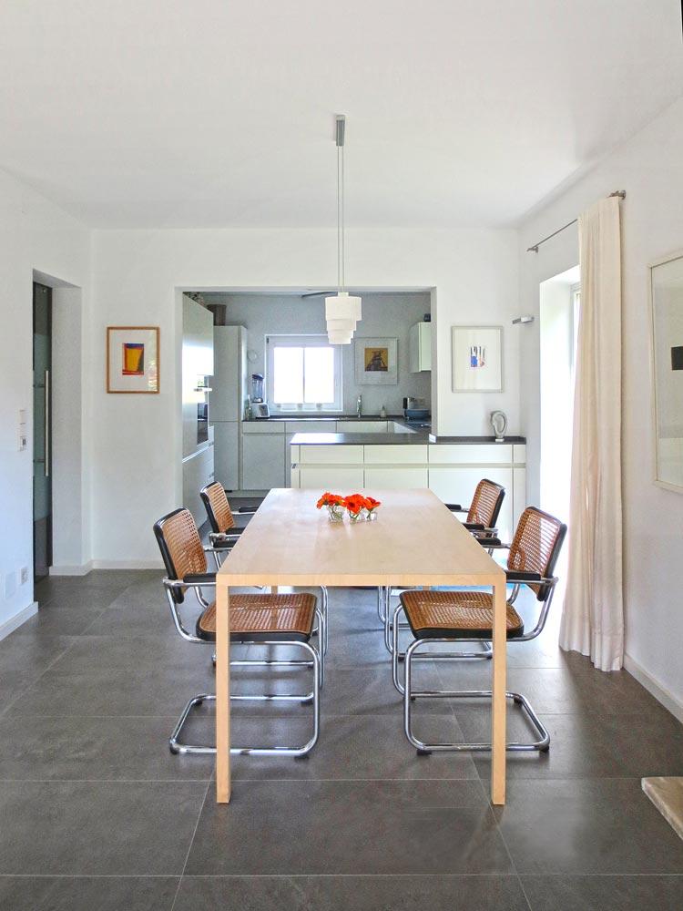 Esszimmer Umbau Doppelhaus Raubling Oberbayern Planquadrat Dortmund