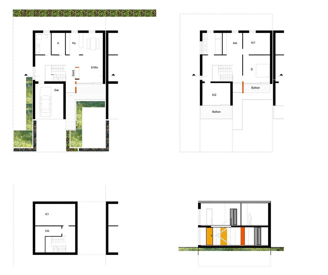 Gartenhaus Grundriss Wohngebiet Sunderweg Gevelsberg Qualifizierungsverfahren für Wohnbebauung Planquadrat Dortmund