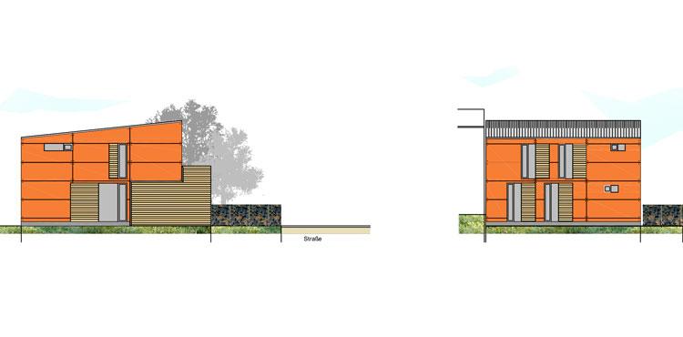 Gartenhaus Ansichten Wohngebiet Sunderweg Gevelsberg Qualifizierungsverfahren für Wohnbebauung Planquadrat Dortmund