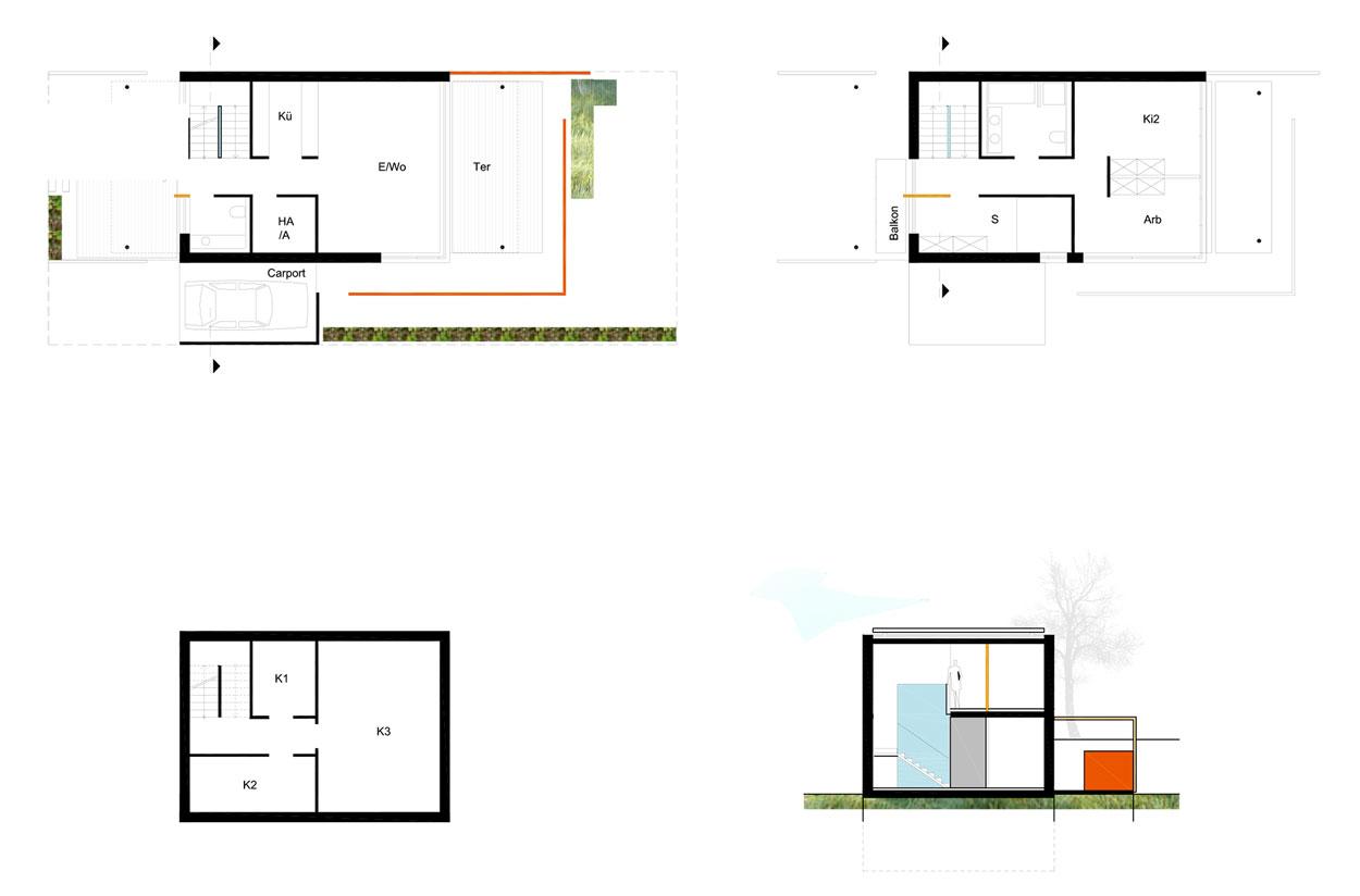 Reihenhaus Grundriss Wohngebiet Sunderweg Gevelsberg Qualifizierungsverfahren für Wohnbebauung Planquadrat Dortmund
