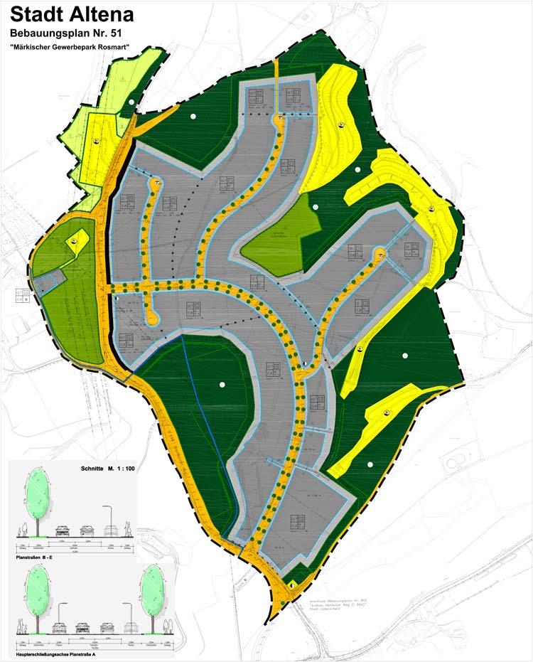 B-Plan Märkischer Gewerbepark Rosmart Altena Planquadrat Dortmund