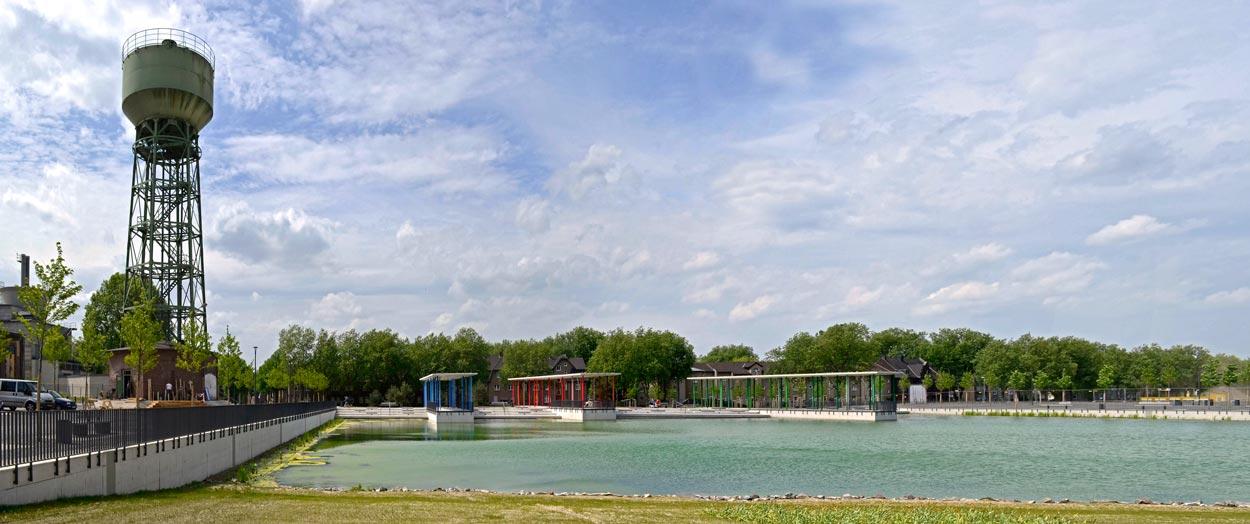 Bergpark Kreativ Quartier Lohberg Bauen im Zentral und Gewerbecluster Dinslaken Planquadrat Dortmund