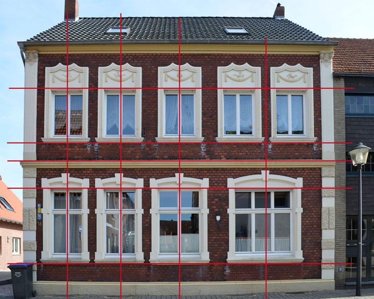 Fassadenachsen Stadt Sendenhorst – Gestaltungssatzung für den historischen Grabenring und Stadtkern Planquadrat Dortmund