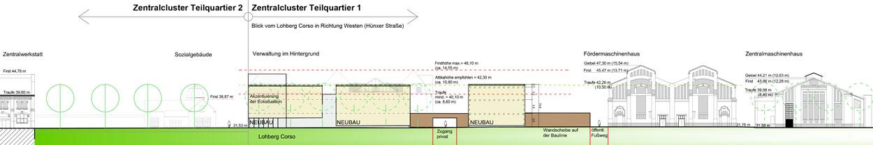 Fassadenempfehlung tq 1 Kreativ Quartier Lohberg Bauen im Zentral und Gewerbecluster Dinslaken Planquadrat Dortmund
