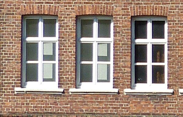 Fenser Ziegelfassade Stadt Sendenhorst – Gestaltungssatzung für den historischen Grabenring und Stadtkern Planquadrat Dortmund