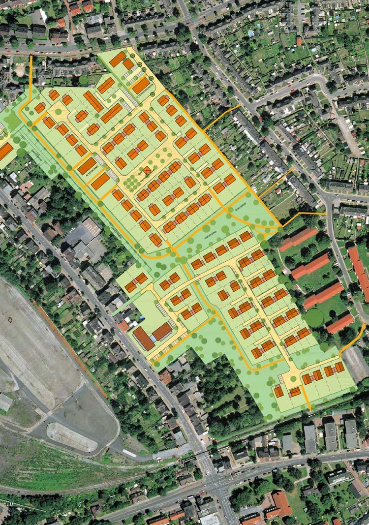Gesamtkonzept Wohnbebauung Feldstraße/Hahnenbergstraße – Herten-Langenbochum Planquadrat Dortmund