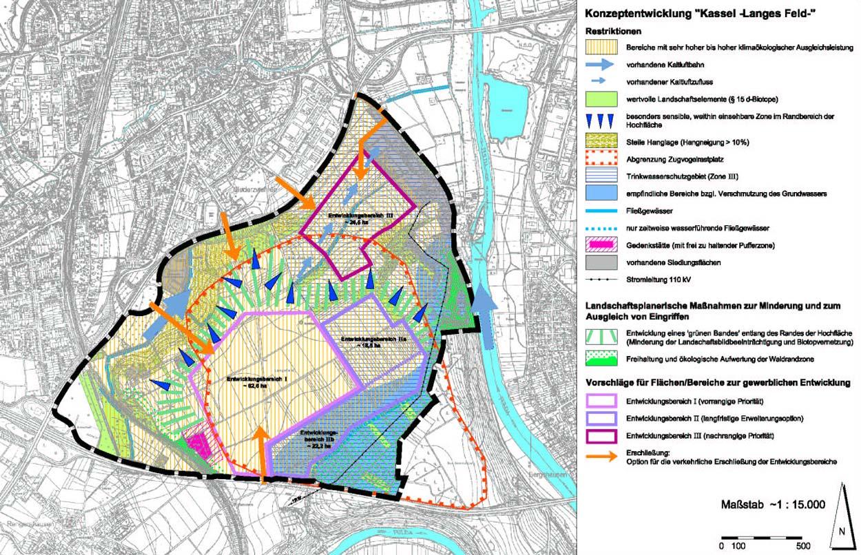 Konzeptentwicklung Gewerbe- und Industriegebiet Langes Feld Kassel Planquadrat Dortmund