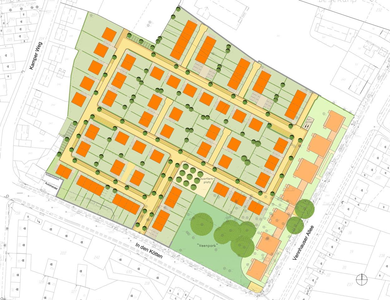 STB Konzept Wohngebiet Veenpark Düsseldorf-Vennhausen Planquadrat Dortmund
