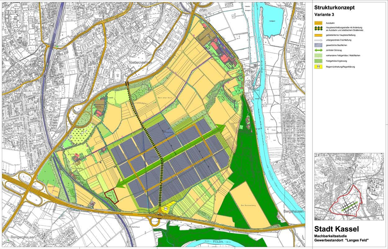 Strukturkonzept 01 Gewerbe- und Industriegebiet Langes Feld Kassel Planquadrat Dortmund