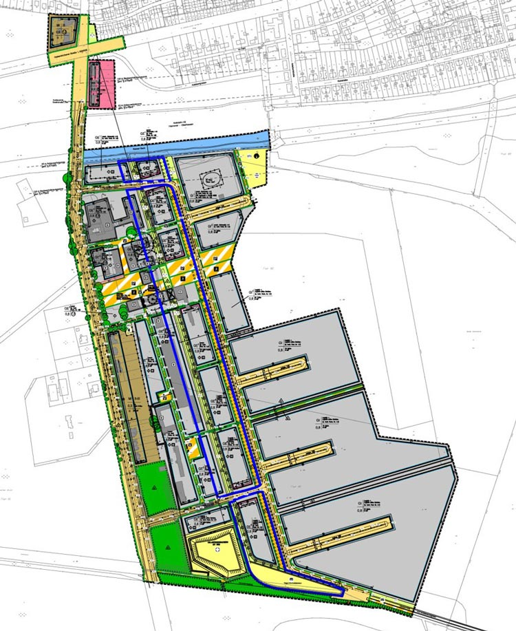 Gesamter Bebauungsplan Stadtquartier Projekt-Ewald Herten Planquadrat Dortmund
