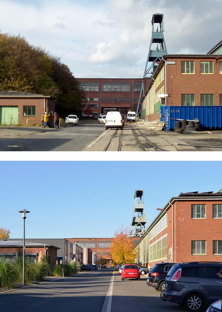 Vorher Nachher Bebauungsplan Stadtquartier Projekt-Ewald Herten Planquadrat Dortmund