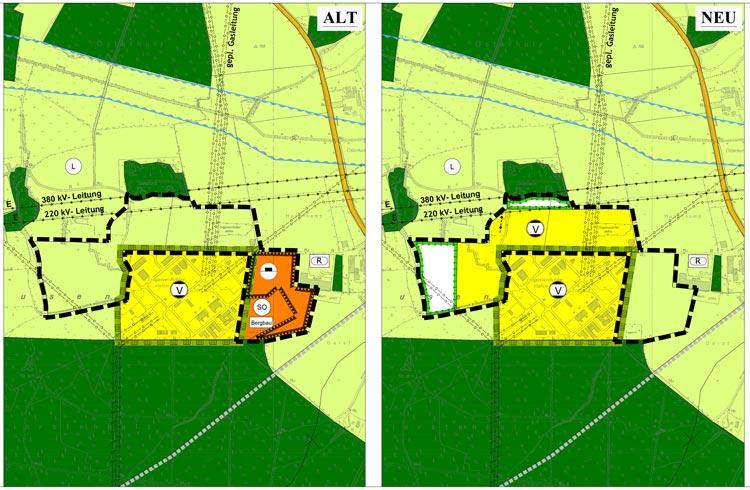 Änderung Flächennutzungsplan und Bebauungsplan Erweiterung der Erdgasverdichterstation Werne Lippe Planquadrat Dortmund
