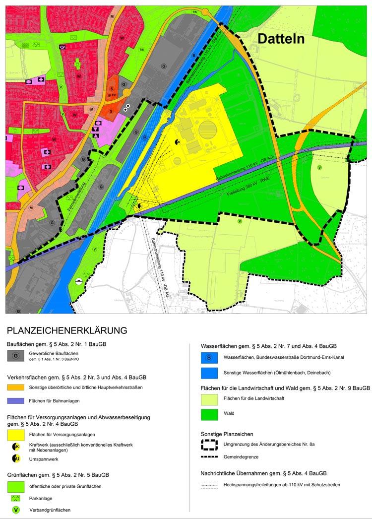 Änderung Flächennutzungsplan Bebauungsplan Steinkohlekraftwerk Datteln 4 Planquadrat Dortmund
