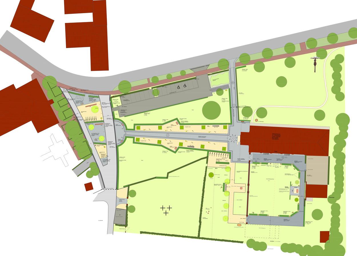 Gestaltungsplan Umgrenzung Ausführungskonzept Bauleitung Dorferneuerung Zwillbrock Stadt Vreden Planquadrat Dortmund