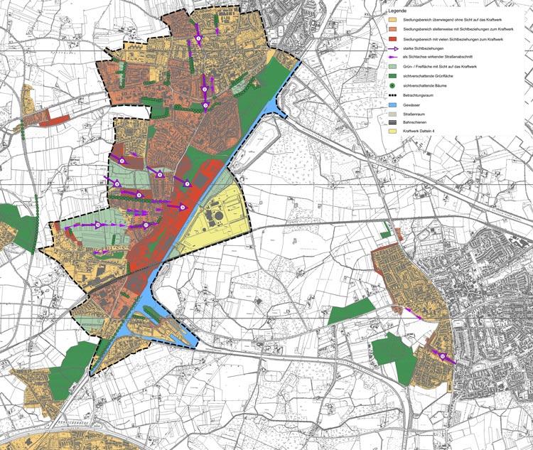 Ortsbildanalyse Flächennutzungsplan Bebauungsplan Steinkohlekraftwerk Datteln 4 Planquadrat Dortmund