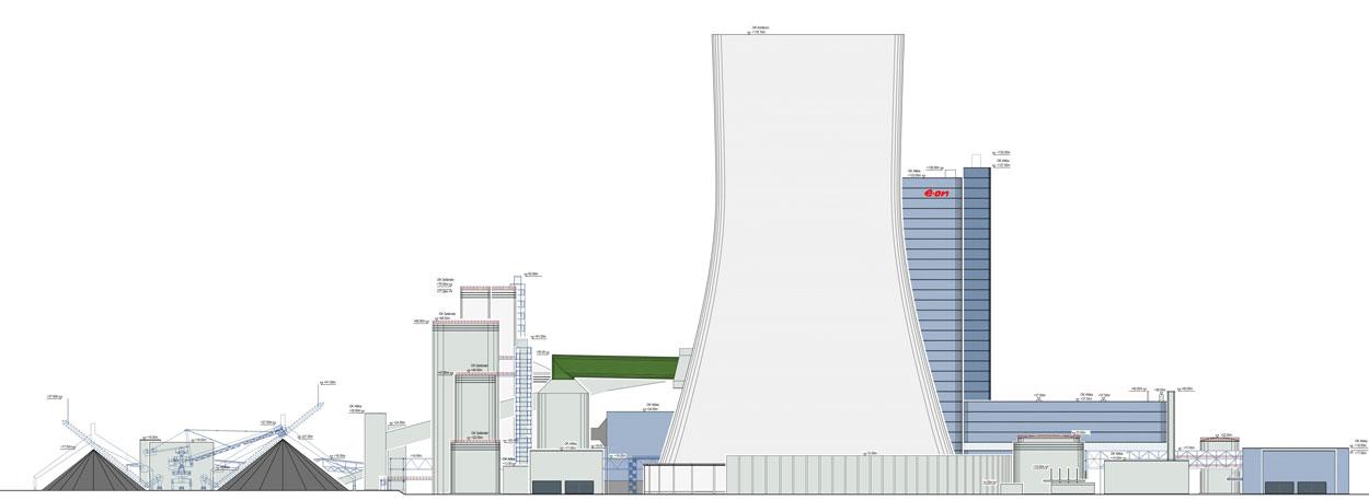 Ostansicht 2 Flächennutzungsplan Bebauungsplan Steinkohlekraftwerk Datteln 4 Planquadrat Dortmund