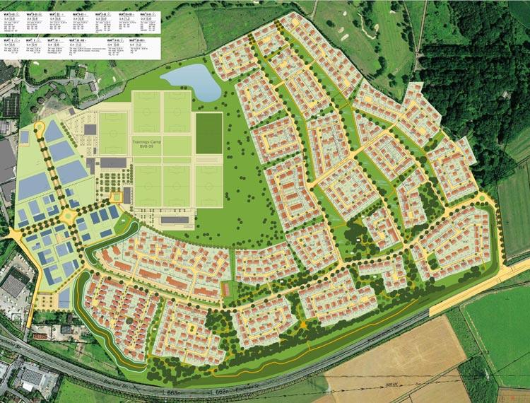 Staedteb Konzept Bebauungsplan Wohngebiet Hohenbuschei Planquadrat Dortmund