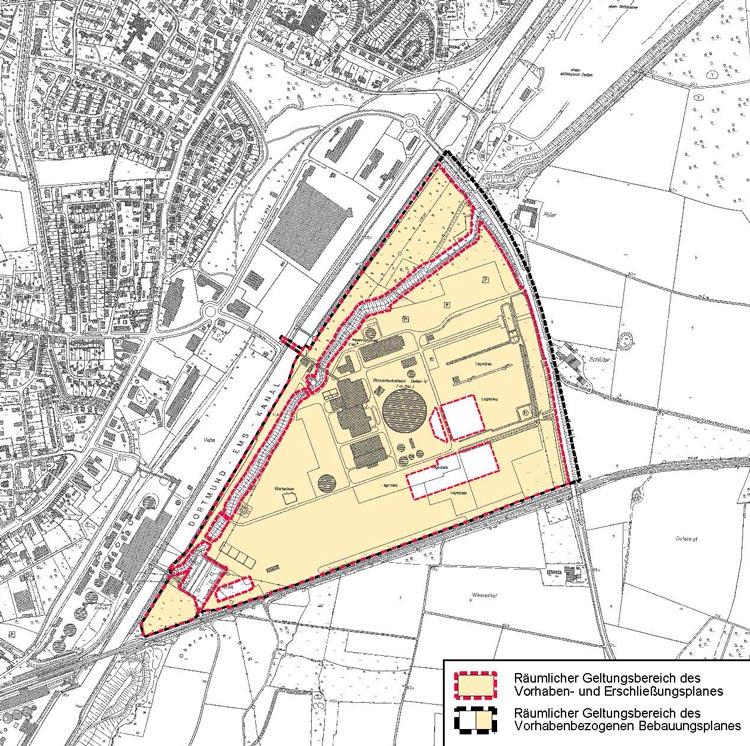 Übersichtsplan Flächennutzungsplan Bebauungsplan Steinkohlekraftwerk Datteln 4 Planquadrat Dortmund