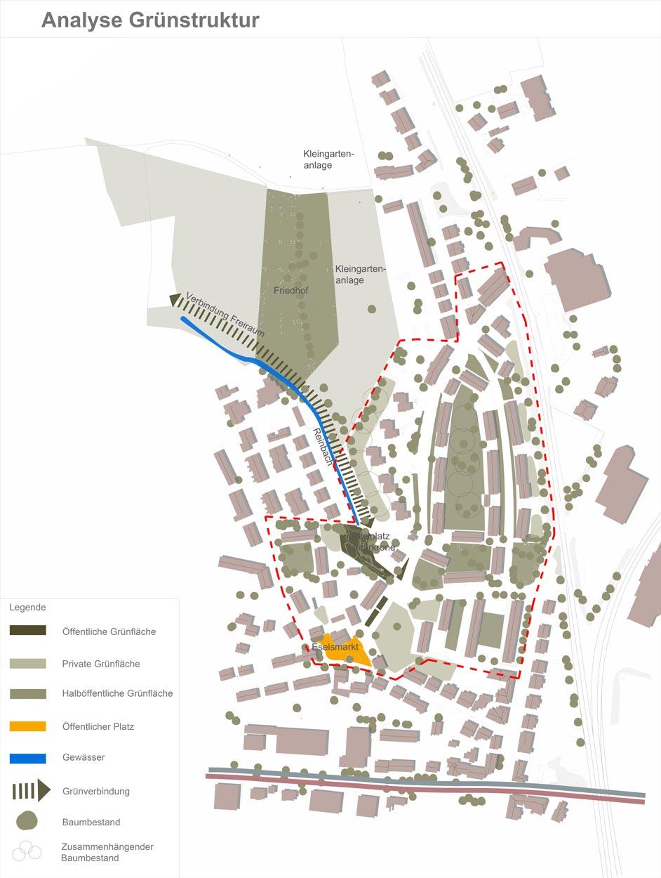 Analyse Grün Quartiersentwicklungsplan Unterkrone, Im Mühlenwinkel, Hermannstraße, Witten - Planquadrat Dortmund