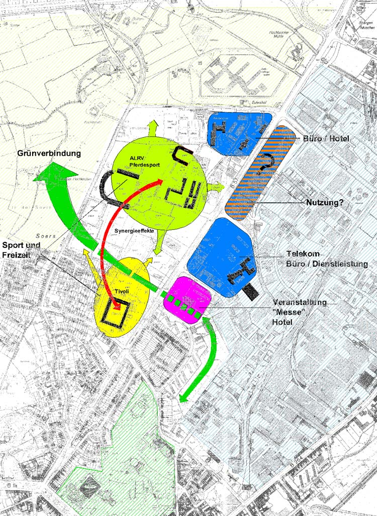 Ankerpunkte Städtebaulicher Rahmenplan Krefelder Straße, Aachen - Planquadrat Dortmund