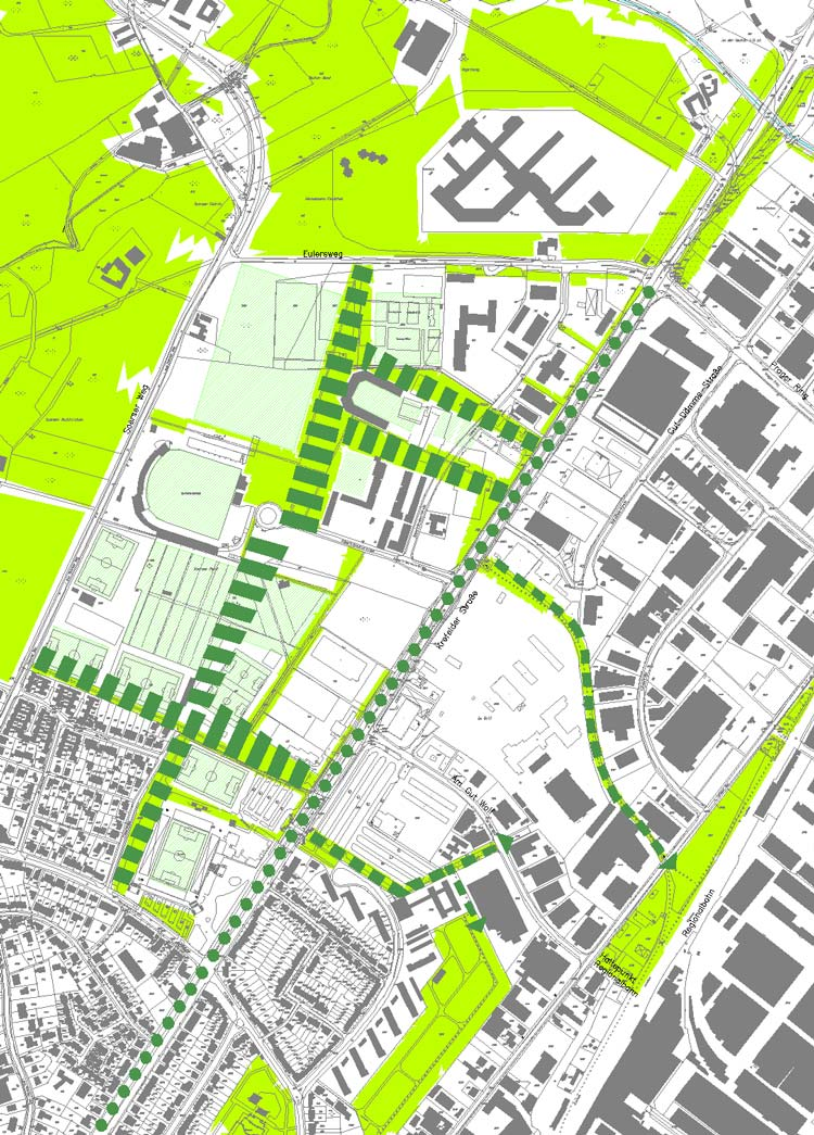 Grünkonzept Städtebaulicher Rahmenplan Krefelder Straße, Aachen - Planquadrat Dortmund