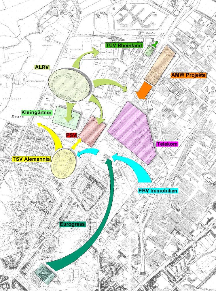 Interessenlage Städtebaulicher Rahmenplan Krefelder Straße, Aachen - Planquadrat Dortmund